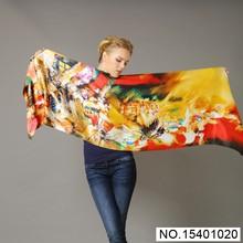 Customer Digital Printing 100% Silk Scarf
