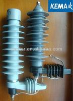24kV Metal-oxide Surge Arrester substation lightning arrester(KEMA)