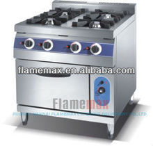Gas oven four burner gas cooking range