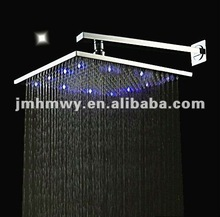 "12"" (30x30cm) copper rain overhead shower with led"