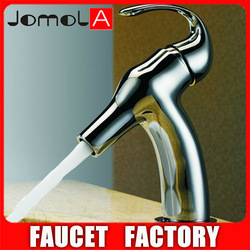 2013 Exquisite Brass Body Long Neck Water Faucet Face Wash Basin Faucet