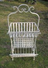 Good quality anitque multifunctional wrought iron metal garden storage basket