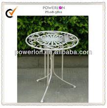 White children wrought iron table