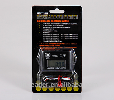 RL-HM026 Digital Waterproof Resettable Inductive Tiny Tach Hour Meter Tachometer For Motorcycle Snowmobile Boat Generator