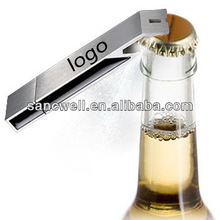 Metal bottle opener usb gadget with own logo from china