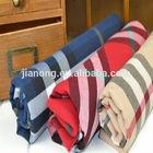 Polyester big plaid yarn dyed shirt fabric wholesales