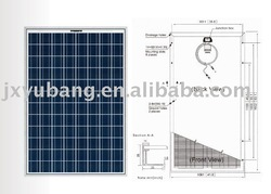 200w poly solar panel