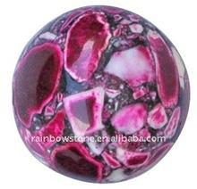Semi-precious Gems Synthetic Turquoise Round Ball Gemstone