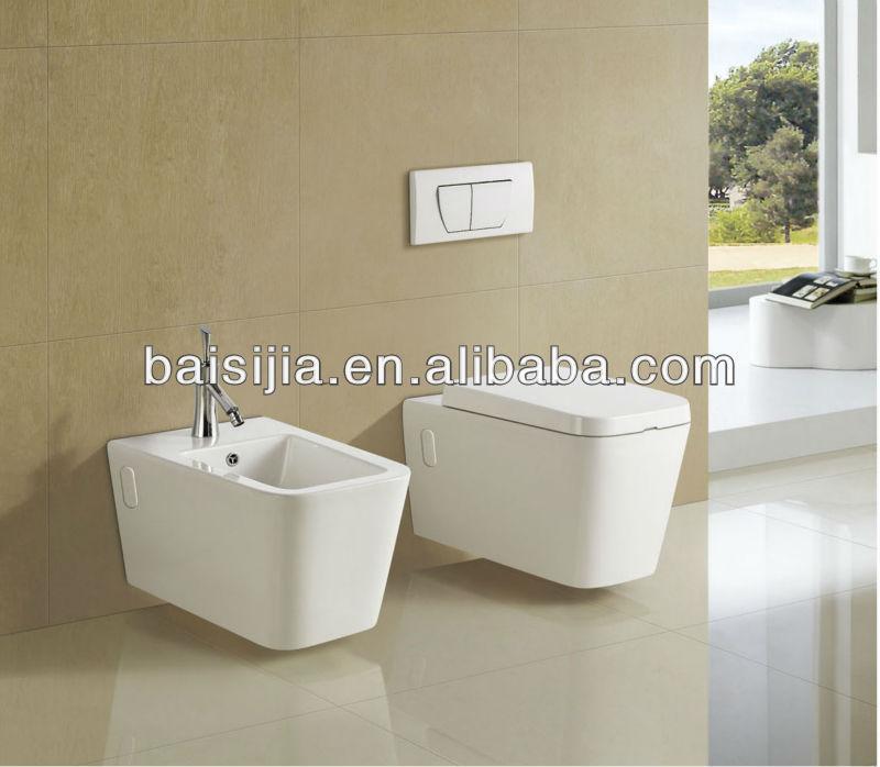 Vierkante keramische sanitair muur hing wc badkamer toilet bsj t035 toiletten product id - Kleur muur wc ...