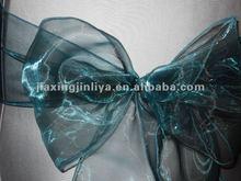 plaid organza chair sash for wedding banquet