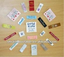 Custom high quality garment/bag/hat/toy/etc printing labels