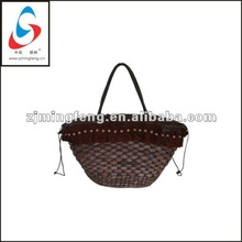 brown lace market bag