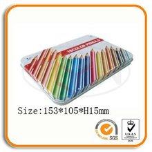 Rectangulaire crayon emballage boîte en étain
