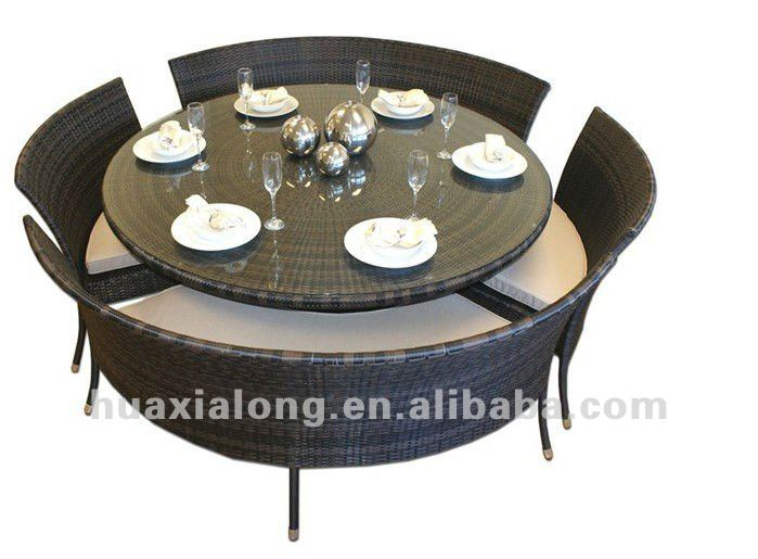 Soldes Salon De Jardin Resine Tressee Gris : manger table ronde en osier avec président stakableOutils de jardin