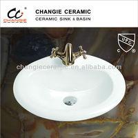 "1011,20x18""vanity top oval basin,CGC-101112-CN, ceramic basin,top mount sink"