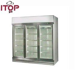 vertical connected cabinet cooler fridge