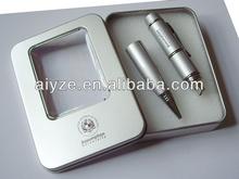 Beautiful USB pen disk,metal pen stick,classic usb flash pen