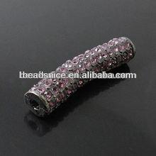 Beadsnice Tubes bar popular accessories 38X8mm hole:2mm wholesale shamballa bracelet beads