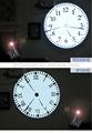 Analog wall led relógio de projeção, teto relógio de projeção, laser relógio de projeção