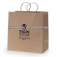high quality kraft polka dot paper bags (wz6483)