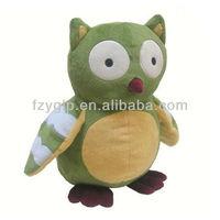 cute owl shape stuffed plush animal children bird toys for promotional toy (OEM)