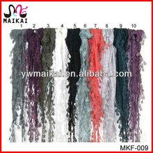 Wholesale 2014 cotton polyester lace edge fashion lady scarf