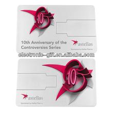 Stock OEM promotional free logo credit card usb flash drive 1G/2G/4G/8G/16G/32G