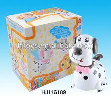 B/O animal bump&go dog with music and light, B/O toys HJ116189