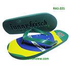 Comfortable man beach EVA flip flop with embossed logo