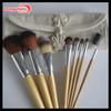 Bamboo cosmetic brush kit professional set make up usa makeup