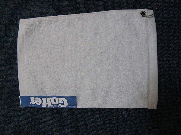 100% Cotton Customized plain golf towel green golf towel