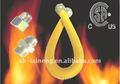 amarillo flexible recubierto de la estufa de gas conector