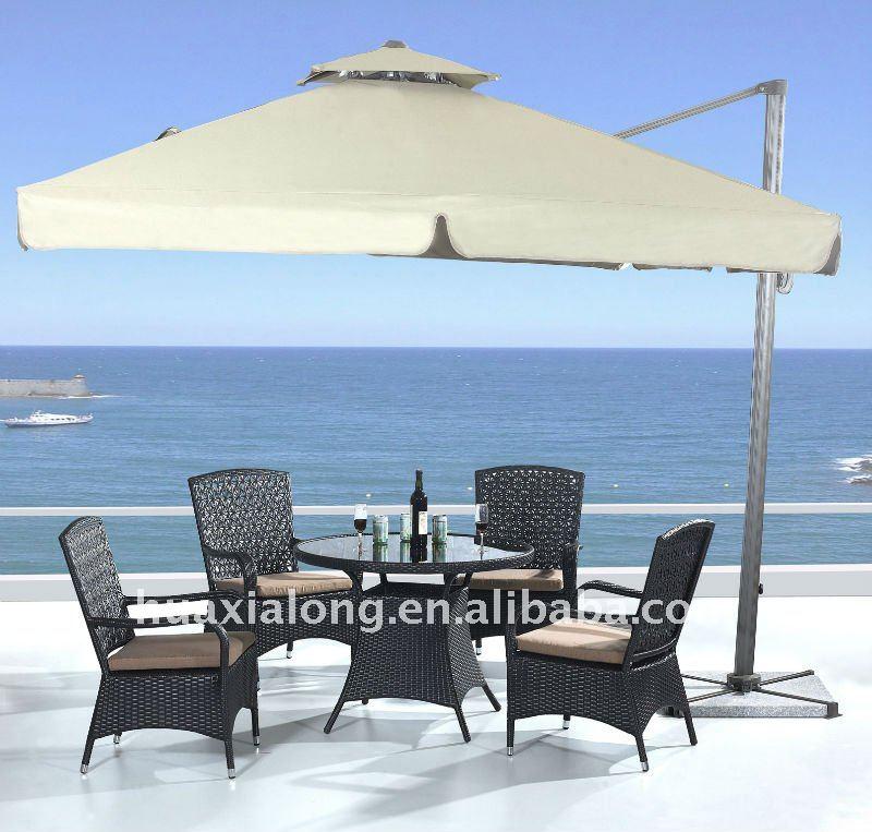 mesa jardim carrefour: mesa redonda e guarda sol-Conjuntos de jardim-ID do produto:500690345