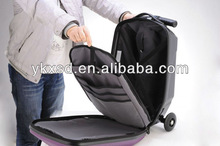 2013 new design PC/EVA trolley luggage with 3 wheels