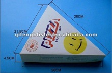 2013 hot sale strong kraft cheap environmental disposable health Elegant Triangle Pizza box/triangel Pizza box with laminate