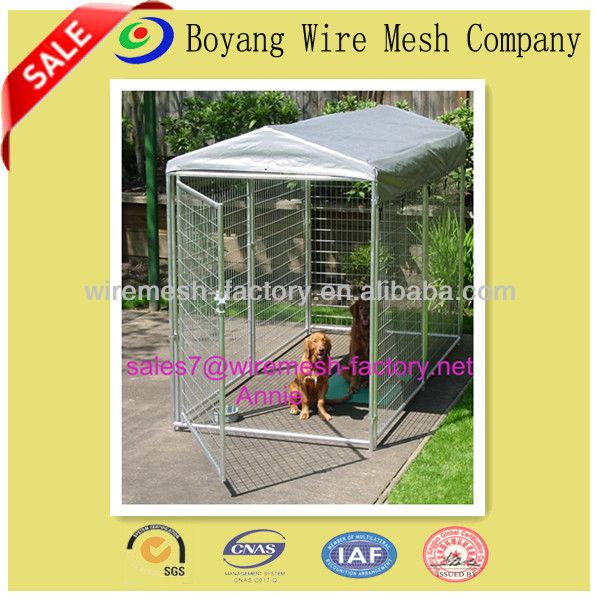 Plegable de alta calidad de acero inoxidable de la jaula del perro/ejecutar perro valla/hermoso jaulas