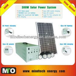 solar power system for 4pcs*3w superbright led lights