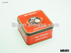 Square soap gift metal tin packaging box