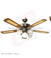 52' Decoration Ceiling Fan waterproof bathroom lighting and fan