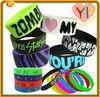 2014 Christmas gift custom silicone wristband / bracelet / rubber band for kids