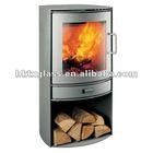 Ceramic glass for fireplace