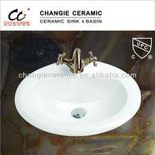 1010,CGC-101012-CN, porcelain sink,vanity top round sink