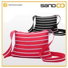 High quality messenger fashion handbag, cheap nylon plastic zipper bag