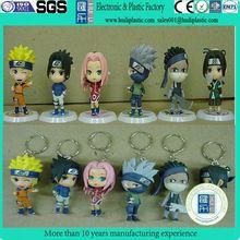 One piece anime naruto mini figures, customized naruto toys action figures, Wholesale plastic naruto action figures