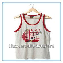 2013 JIS-0708 hot sell casual style fashion design 100%cotton sexy born to run printed sleeveless tank top for men