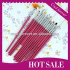 2013 hot selling 15 pcs Professional kolinsky nail brush