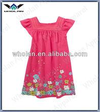 Newest fashion child clothing beautiful flower birthday party dress girl dresses