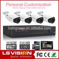ls visión de vigilancia cctv dvr kit de la puerta 1080p hd al aire libre del cctv cámara de seguridad de los sistemas