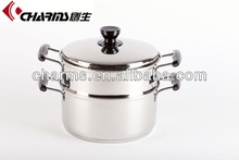 Nonstick stainless steel steamer and cooking pots