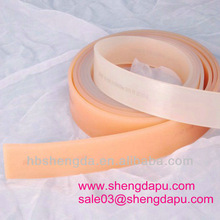 Screen printing rubber squeegee blades with perfect edges
